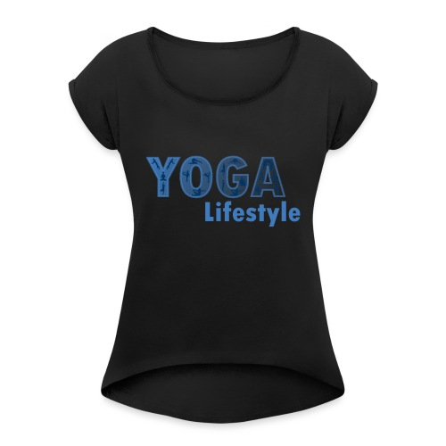 Yoga Life Style - Camiseta con manga enrollada mujer