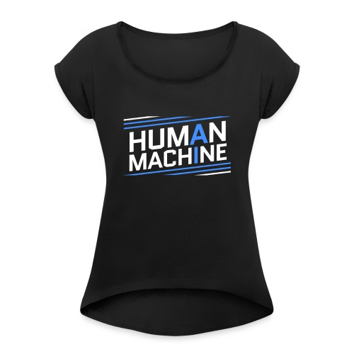 Human Machine Umanoide Robot Intelligenza AI - Maglietta da donna con risvolti