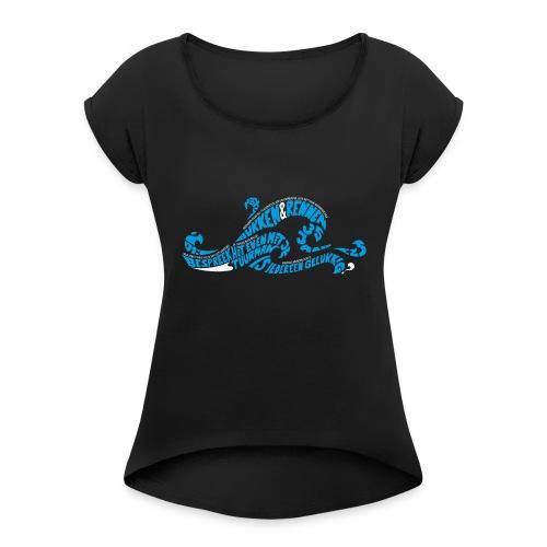 EZS T shirt 2013 Front - Vrouwen T-shirt met opgerolde mouwen