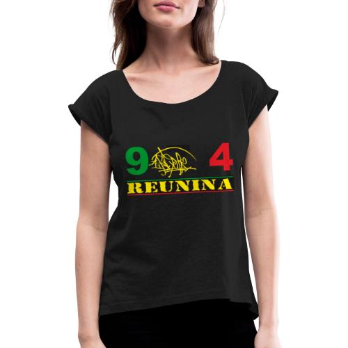 974 ker kreol ikon rasta 01 - T-shirt à manches retroussées Femme