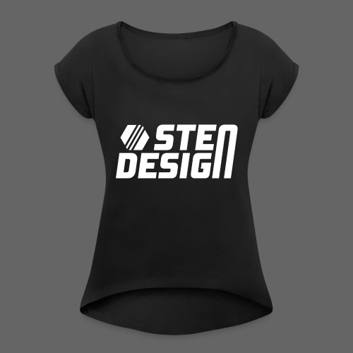 StenDesign T-Shirt - Women's T-Shirt with rolled up sleeves