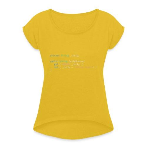 Inline Curly Braces - Maglietta da donna con risvolti