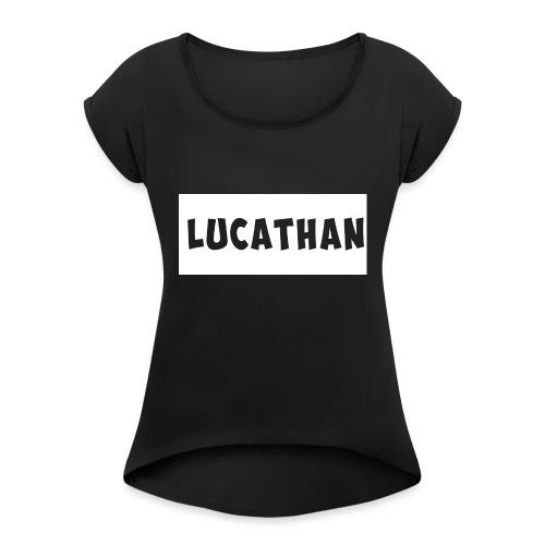 GOED_2-png - Vrouwen T-shirt met opgerolde mouwen