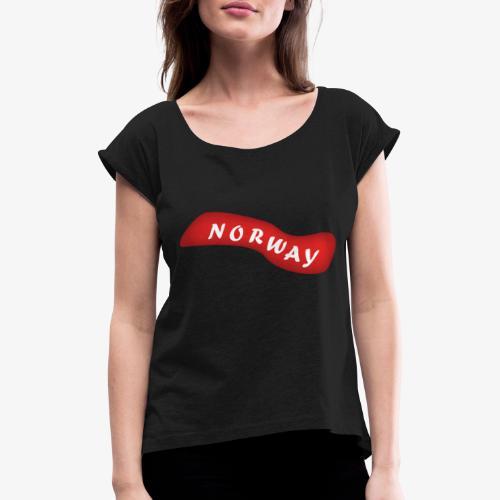 Norway - T-skjorte med rulleermer for kvinner