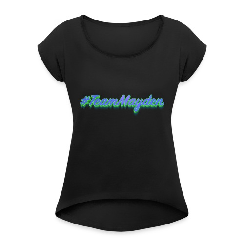 #TeamMayden - Camiseta con manga enrollada mujer