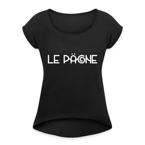 Le Pägne Logo Blanc - T-shirt à manches retroussées Femme