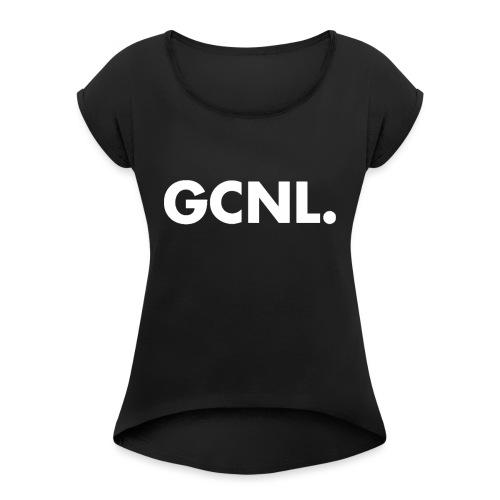 GoldenCrafters Snapback/Cap - Vrouwen T-shirt met opgerolde mouwen