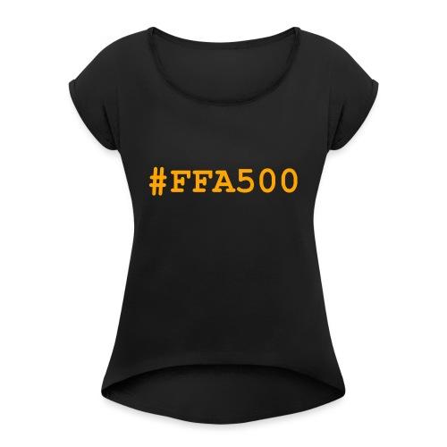 ffa500 - T-shirt à manches retroussées Femme