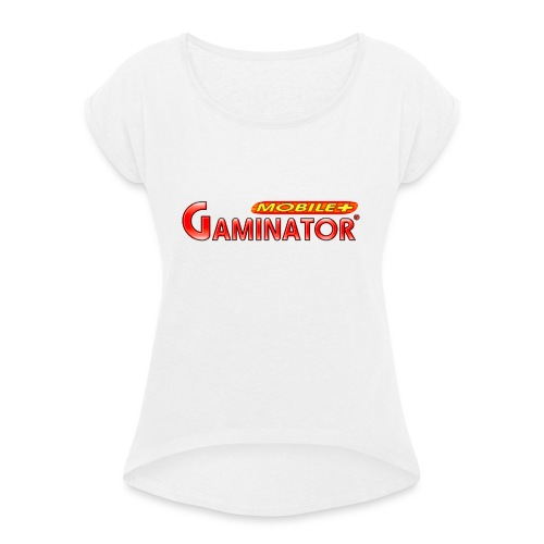 Gaminator logo - Women's T-Shirt with rolled up sleeves