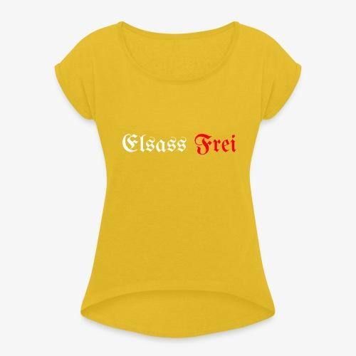 Elsass Frei - T-shirt à manches retroussées Femme
