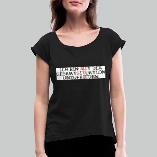 situation - Frauen T-Shirt mit gerollten Ärmeln