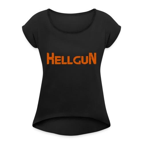 Logo HELLGUN - Frauen T-Shirt mit gerollten Ärmeln