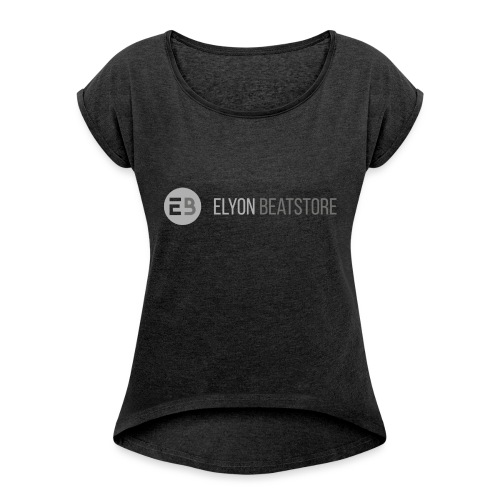 ElyonBeatstore Logo - Vrouwen T-shirt met opgerolde mouwen
