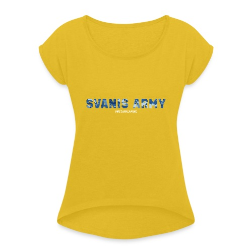 SVANIS ARMY, SWEDISHGAMING - T-shirt med upprullade ärmar dam