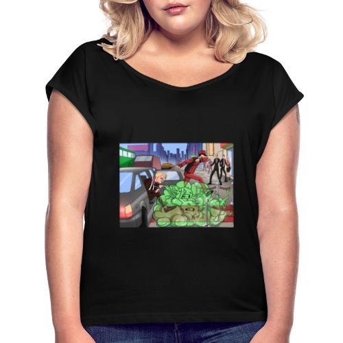 Covid-19 - Frauen T-Shirt mit gerollten Ärmeln