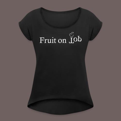 GBIGBO zjebeezjeboo - Fleur - Fruit [FlexPrint] - T-shirt à manches retroussées Femme