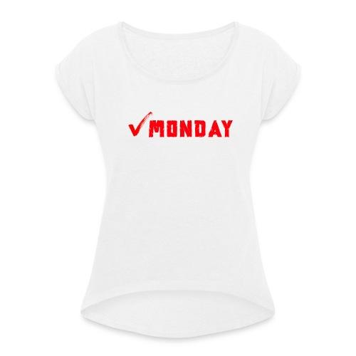 Monday at Work - Maglietta da donna con risvolti
