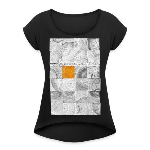 Cubes de Bois - T-shirt à manches retroussées Femme