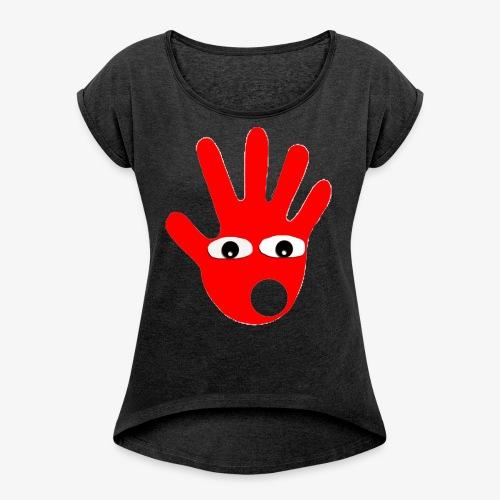 Hände mit Augen - T-shirt à manches retroussées Femme