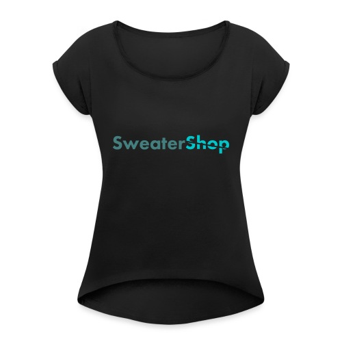 SweaterShop Promo T-Shirt - Vrouwen T-shirt met opgerolde mouwen