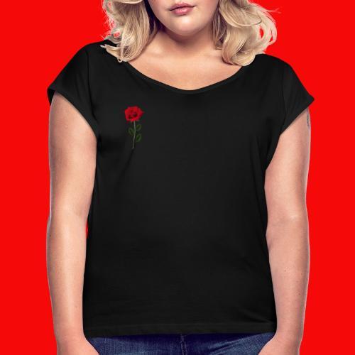 Våran Exklusiva Merch - T-shirt med upprullade ärmar dam
