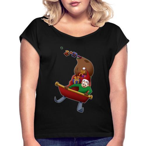 Davincstyle slee achtbaan - Vrouwen T-shirt met opgerolde mouwen