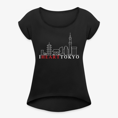 I HEART TOKYO Ver.2 - Women's T-Shirt with rolled up sleeves