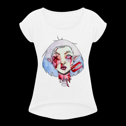 Violence - T-shirt à manches retroussées Femme