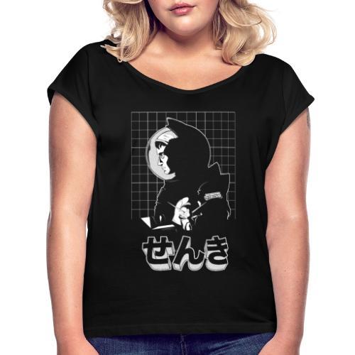 Senki - T-shirt à manches retroussées Femme