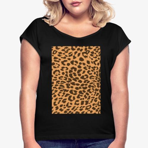 Leopardo - Maglietta da donna con risvolti