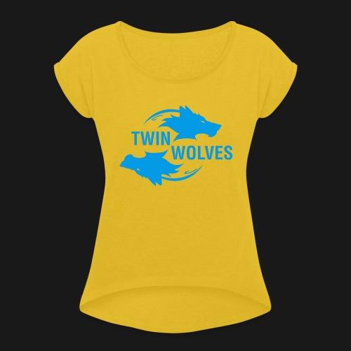 Twin Wolves Studio - Maglietta da donna con risvolti