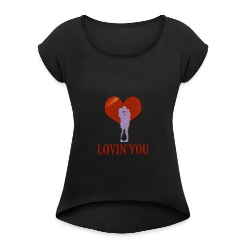 LOVIN'YOU - Camiseta con manga enrollada mujer