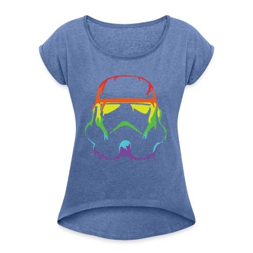 Pride Trooper - simple - Naisten T-paita, jossa rullatut hihat