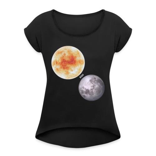 Ego - Camiseta con manga enrollada mujer