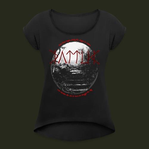 sluten (att stigen följa) - T-shirt med upprullade ärmar dam
