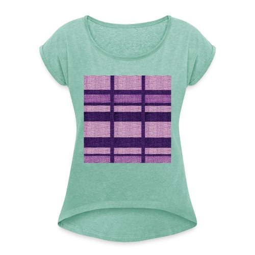 puplecolor tank top - Women's T-Shirt with rolled up sleeves