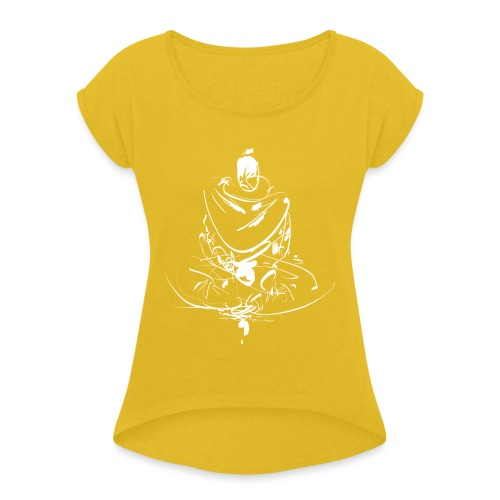 Iaido Samurai Zen Meditation - Women's T-Shirt with rolled up sleeves