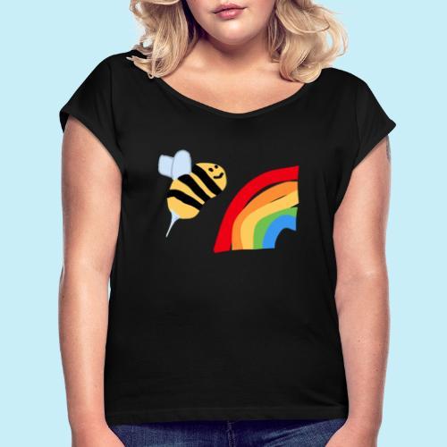 BEe Gay - T-shirt à manches retroussées Femme