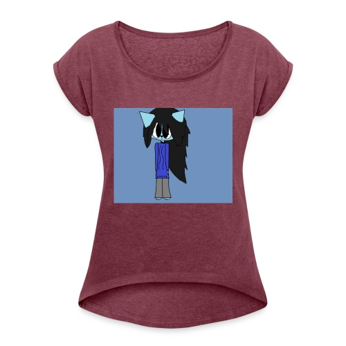 my cartoon self - Women's T-Shirt with rolled up sleeves