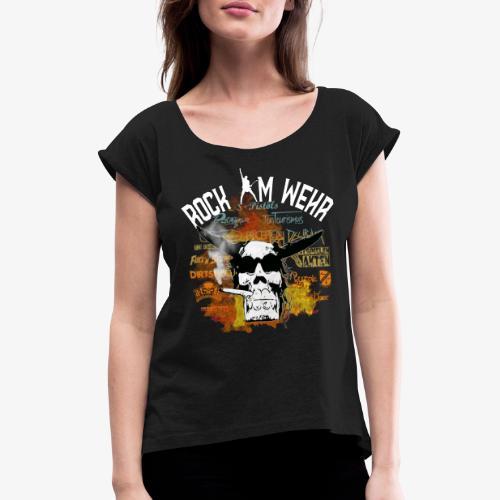 Logo 2020 - Frauen T-Shirt mit gerollten Ärmeln