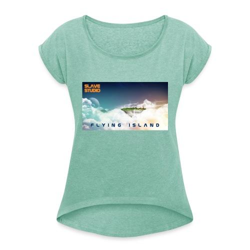 flying island - Maglietta da donna con risvolti