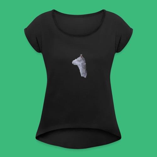 Lama KristalArt / alle kleuren - Vrouwen T-shirt met opgerolde mouwen