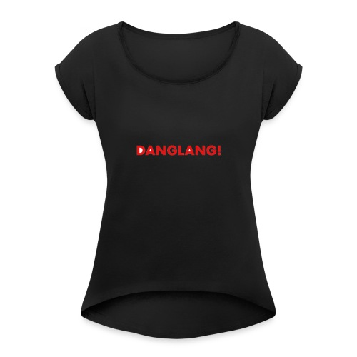 DANGLANG red - Women's T-Shirt with rolled up sleeves