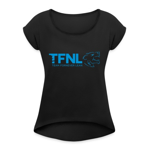 TFNL Blue Logo Tee - Women's T-Shirt with rolled up sleeves