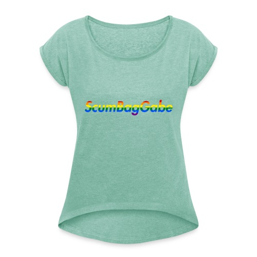 ScumBagGabe Multi Logo XL - Women's T-Shirt with rolled up sleeves