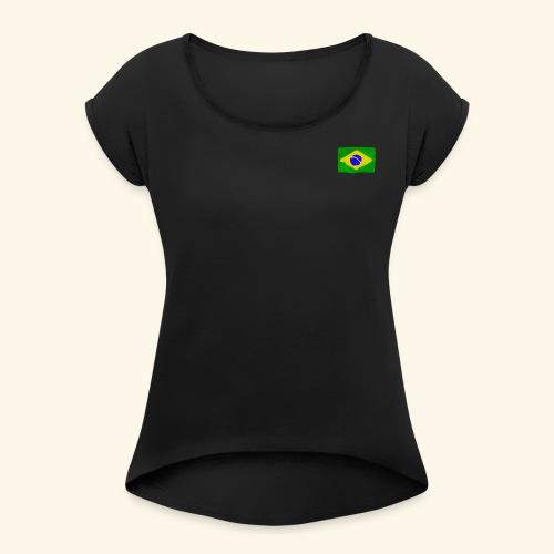 Brazilian flag InWatercolours - T-shirt med upprullade ärmar dam