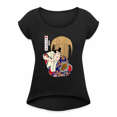 Trilobite Samurai - Women's T-Shirt with rolled up sleeves