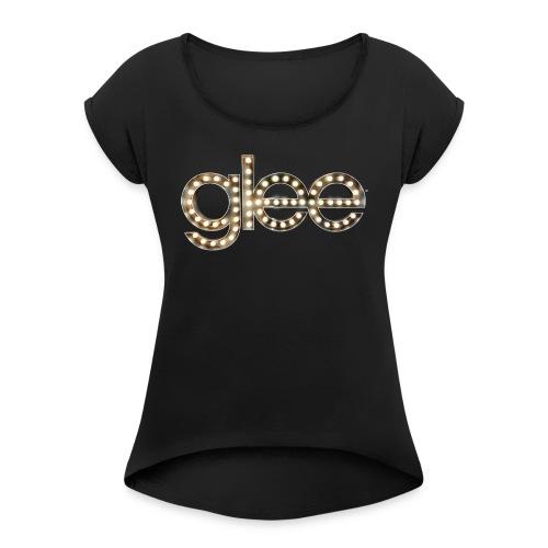 Glee Logo Light Bulbs - Frauen T-Shirt mit gerollten Ärmeln