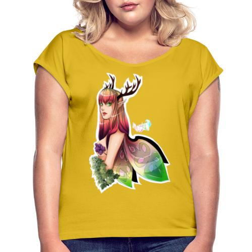 fée des bois - T-shirt à manches retroussées Femme