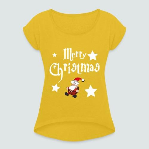 Merry Christmas - Ugly Christmas Sweater - Frauen T-Shirt mit gerollten Ärmeln